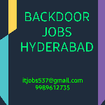 Backdoor Jobs Hyderabad